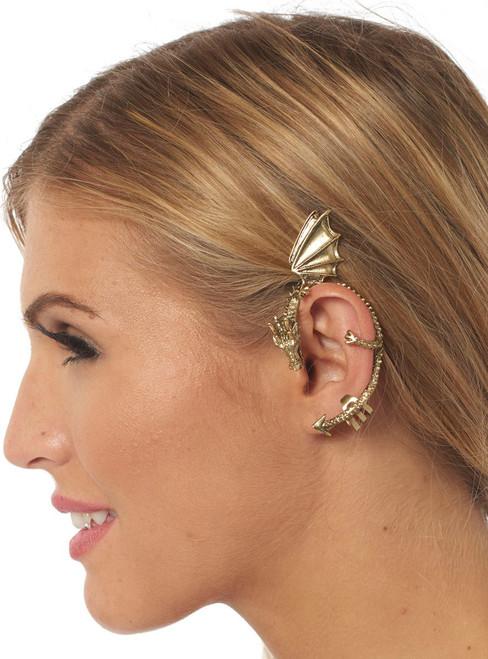 Golden Dragon Ear Cuff
