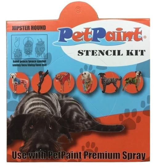 3 Hipster Hound Pet Stencils