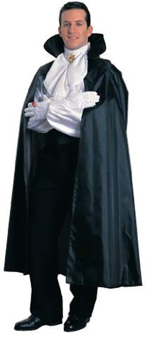 Black Taffeta Cape with Foam Collar
