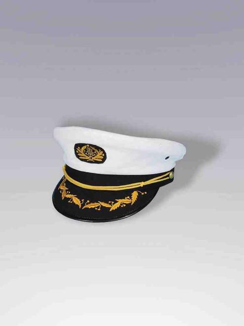 White Captains Hat