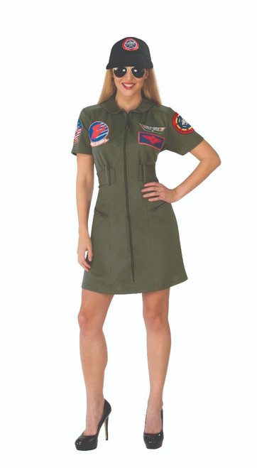 Top Gun Womens Licensed Flight Dress Costume
