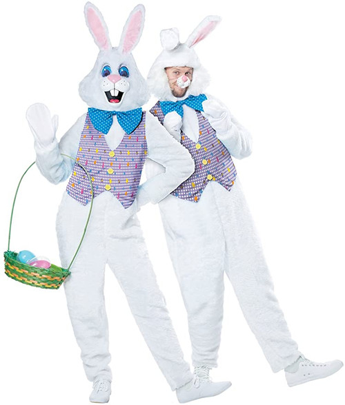Easter Classic Bunny With Removable Face Mascot Costume