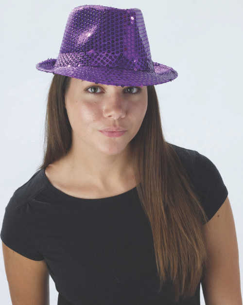 20s Sequin Fedora Purple