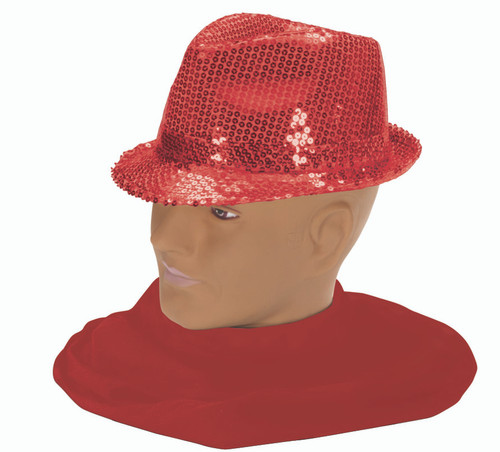 20s Sequin Fedora Red
