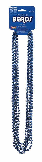 Mardi Gras Party Beads - 6 Pack - In 7 Colours!