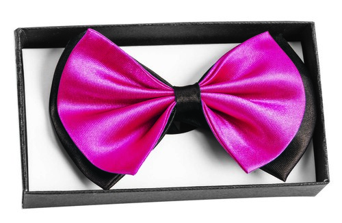 Bowtie In A Box Black & Hot Pink