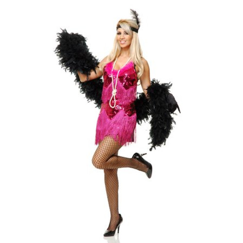 20s Womens Fuchia Fashion Flapper