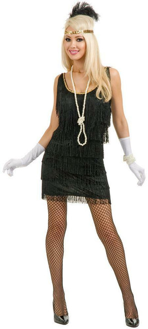 20s Womens Black Fashion Flapper