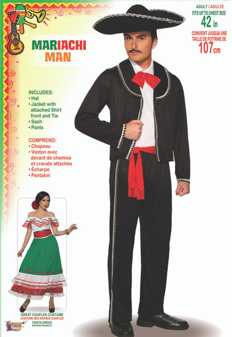 Mens Spanish Mariachi Man Costume
