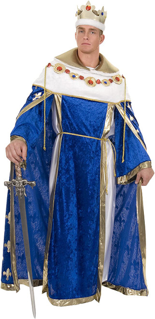 Mens Medieval Royal Blue King's Robe at The Costume Shoppe