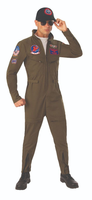 Top Gun Licensed Mens Deluxe Flight Suit Costume at The Costume Shoppe