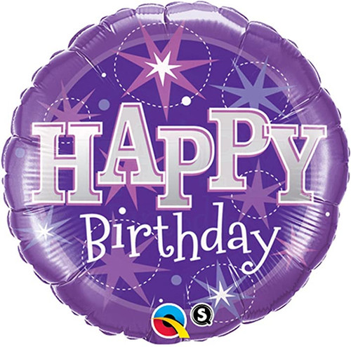 Foil Happy Birthday Sparkle Balloons at The Costume Shoppe