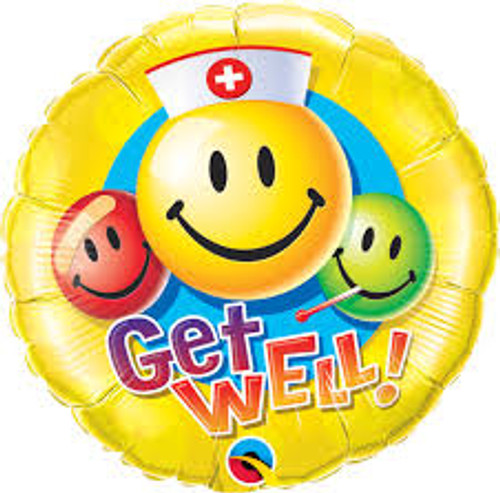Foil Get Well Soon 12 Inch Balloon at The Costume Shoppe
