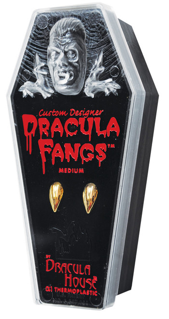 Dracula Vampire Gold Plated Fangs