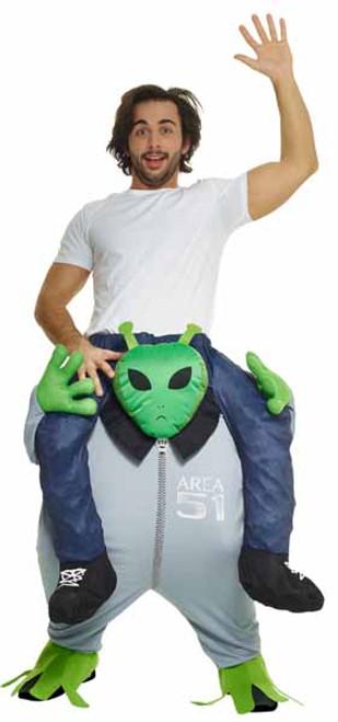 Piggyback Alien Inflatable Morphsuit Costume