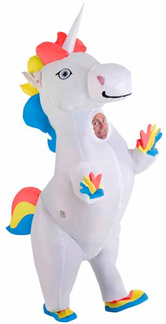 Prancing Unicorn Inflatable Costume