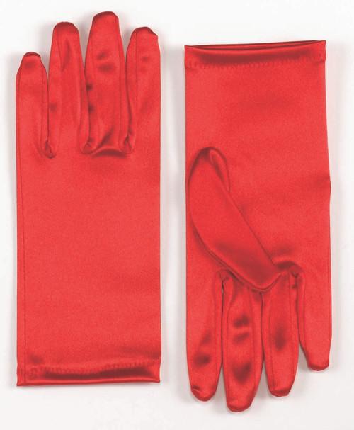 Red Satin Wrist Glove