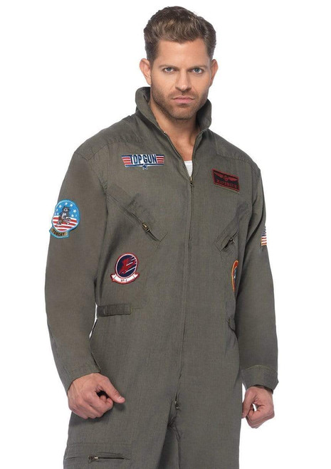 Plus Top Gun Flight Suit - At The Costume Shoppe