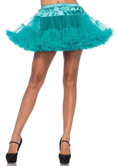 Teal Tulle Standard Costume Petticoat - At The Costume Shoppe