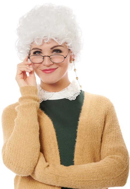 Snarky Senior Old Woman Wig - At The Costume Shoppe