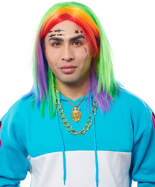 Rainbow Pride and Rapper Wig