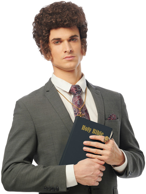 Righteous Preacher Brown Wig - At The Costume Shoppe