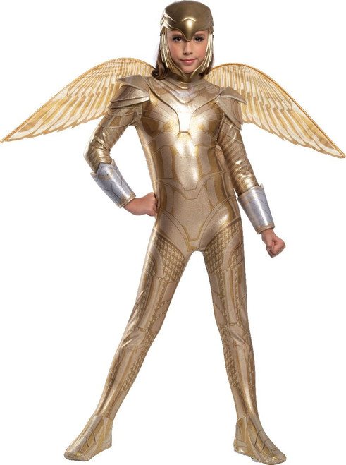 Childerns Gold Armored Wonder Woman Costume - Wonder Woman 1984 at the Costume Shoppe