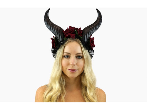 Goat Horn Black Red at the Costume Shoppe