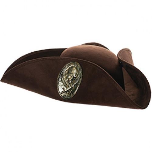 Pirate Emblem Tri-Corner Hat at the costume shoppe
