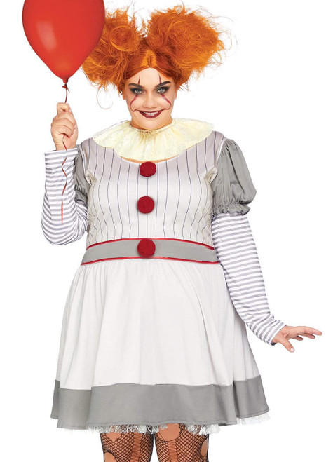 Adult Plus Size Creepy Clown Costumeat the costume shoppe