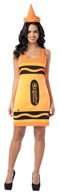 Adult Crayola Crayon Dress Costume - Orange