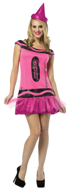 Adult Crayola Glitter Crayon Costume - Pink