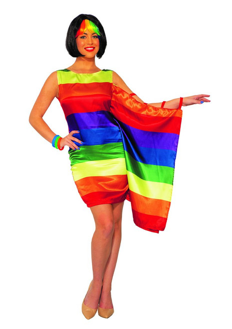 Adult Pride Flag Dress Costume at the costume shoppe