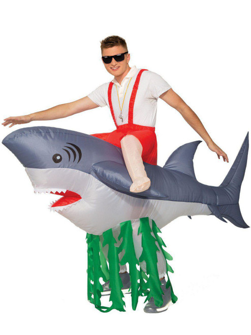 Adult Shark Inflatable Ride On at the costume shoppe