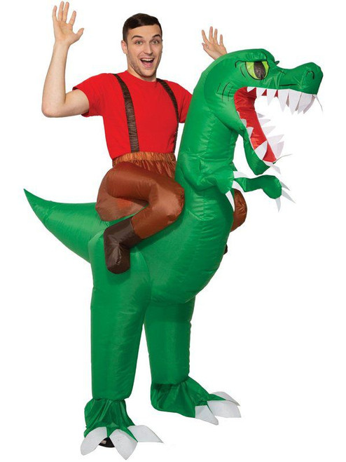 Adult Dinosaur Inflatable Ride On Costume at the costume shoppe
