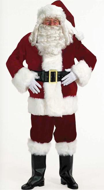 Super Deluxe Red Velveteen Santa Suit - Plus Size