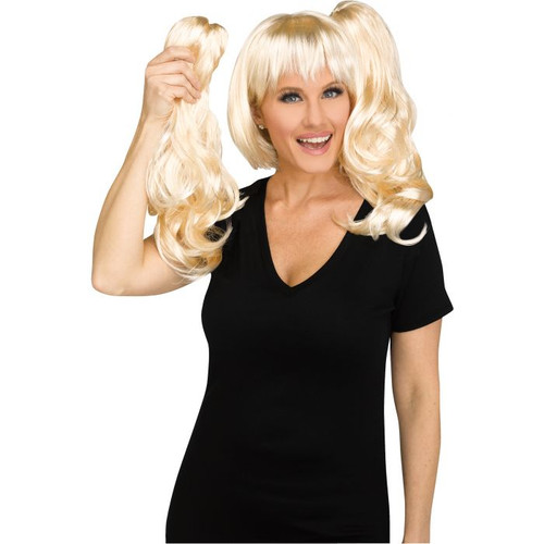Blonde 3-in-1 Ponytail & Wig Set - At The Costume Shoppe