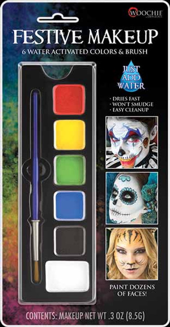 Cinema Secrets Festive Palette - Water Activated Face Paint at The Costume Shoppe