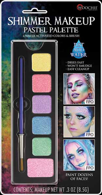 Cinema Secrets Pastel Palette - Water Activated Face Paint at The Costume Shoppe