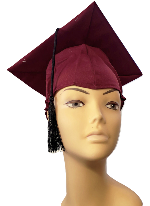 Graduation Cap - Burgundy at The Costume Shoppe