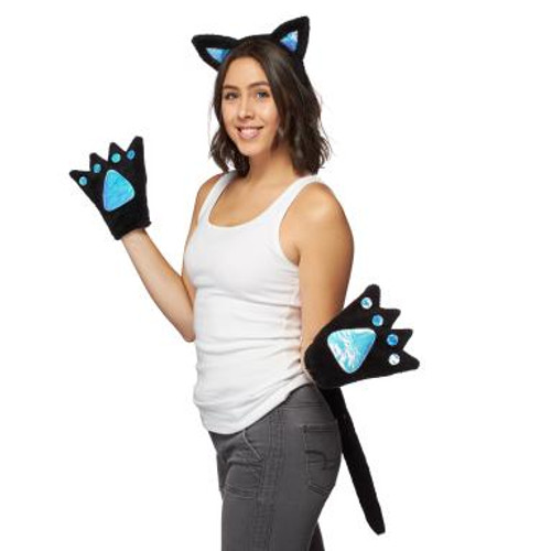 Kitty Cat 3-Piece Costume Set With LED Lights