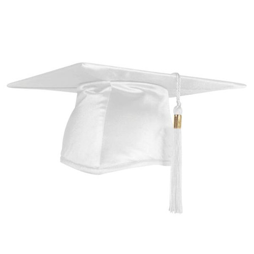Adult Graduation Cap - White