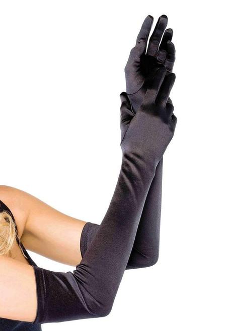 Extra Long Black Gloves