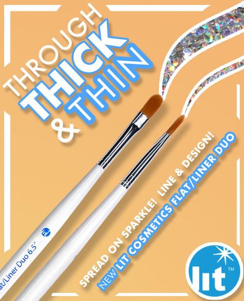 """Flat/Liner Duo 6.5"""" Brush"""