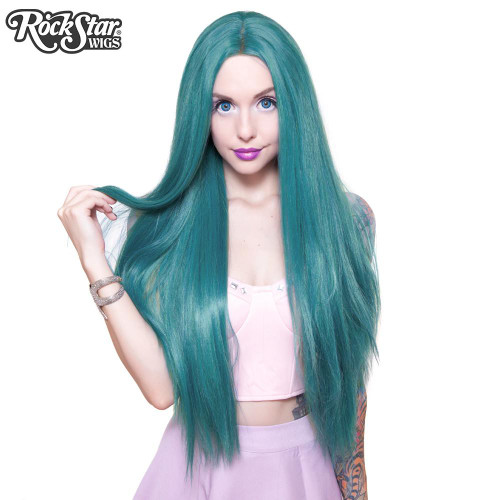 Rockstar - Yaki Straight Turquoise Lace Wig