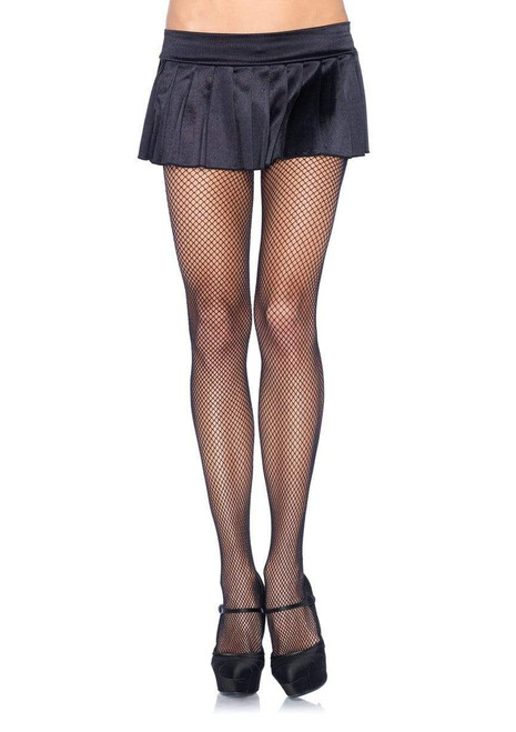 Queen Fishnet Spandex Panty Hose - Black at the Costume Shoppe