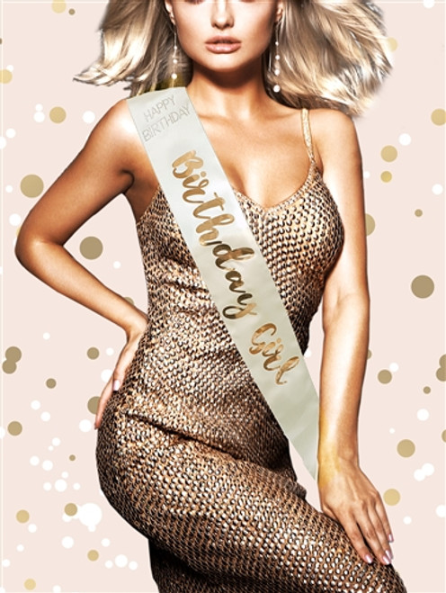 Rose Gold - Birthday Girl Sash