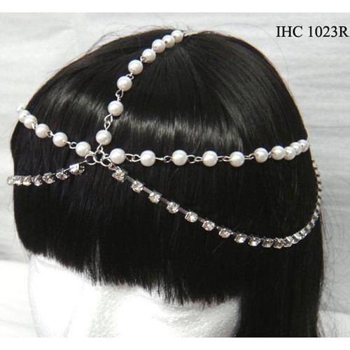 Silver Head  Chain  With Pearls