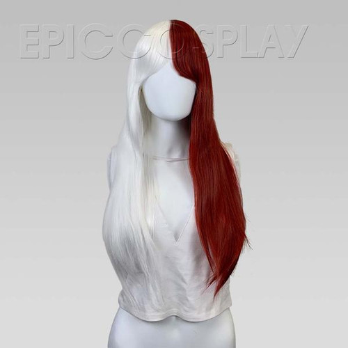 Epic Cosplay Wigs- NYX - CLASSIC WHITE AND DARK RED WIG