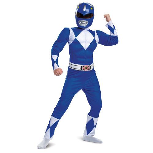 Power Rangers Blue Ranger Classic Muscle Costume